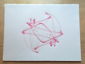 "Space Harmony Reimagined 23 Lithographic Print on Archival French Rag Paper14""x11""$125"