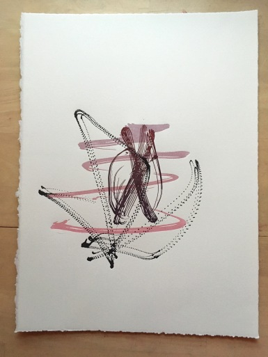 "Space Harmony Reimagined 7 Lithographic Print on Archival Paper8.5""x11""$60"