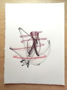 "Space Harmony Reimagined 17 Lithographic Print on Archival French Rag Paper14""x11""$125"