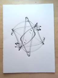 "Space Harmony Reimagined 21 Lithographic Print on Archival French Rag Paper11""x14""$125"