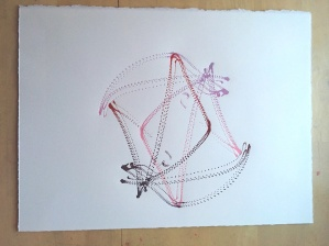 "Space Harmony Reimagined 37 Lithographic Print on Archival French Rag Paper 14""x11"" $125"